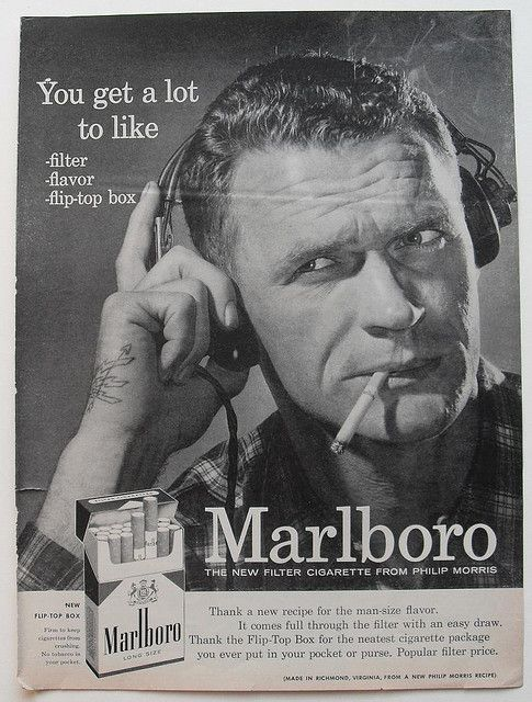 1950s marlboro men black white photo cigarettes vintage advertisement rugged masculine smoking by christian montone via flickr