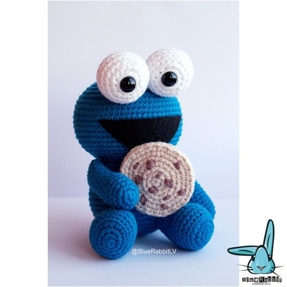 Cookie Monster. PDF file amigurumi crochet pattern. Inspired by ...
