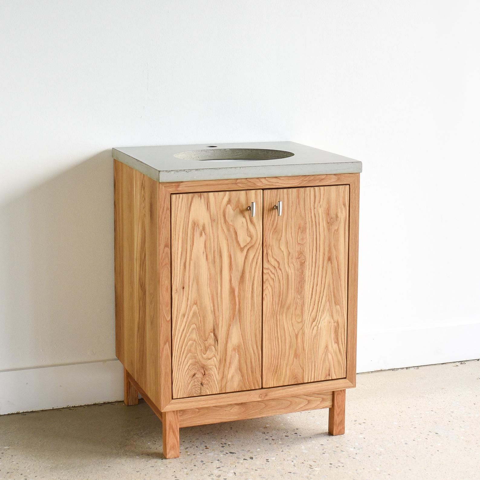 24 Bathroom Vanity Made From Reclaimed Wood Modern Powder Room Vanity Single Sink Console With Images