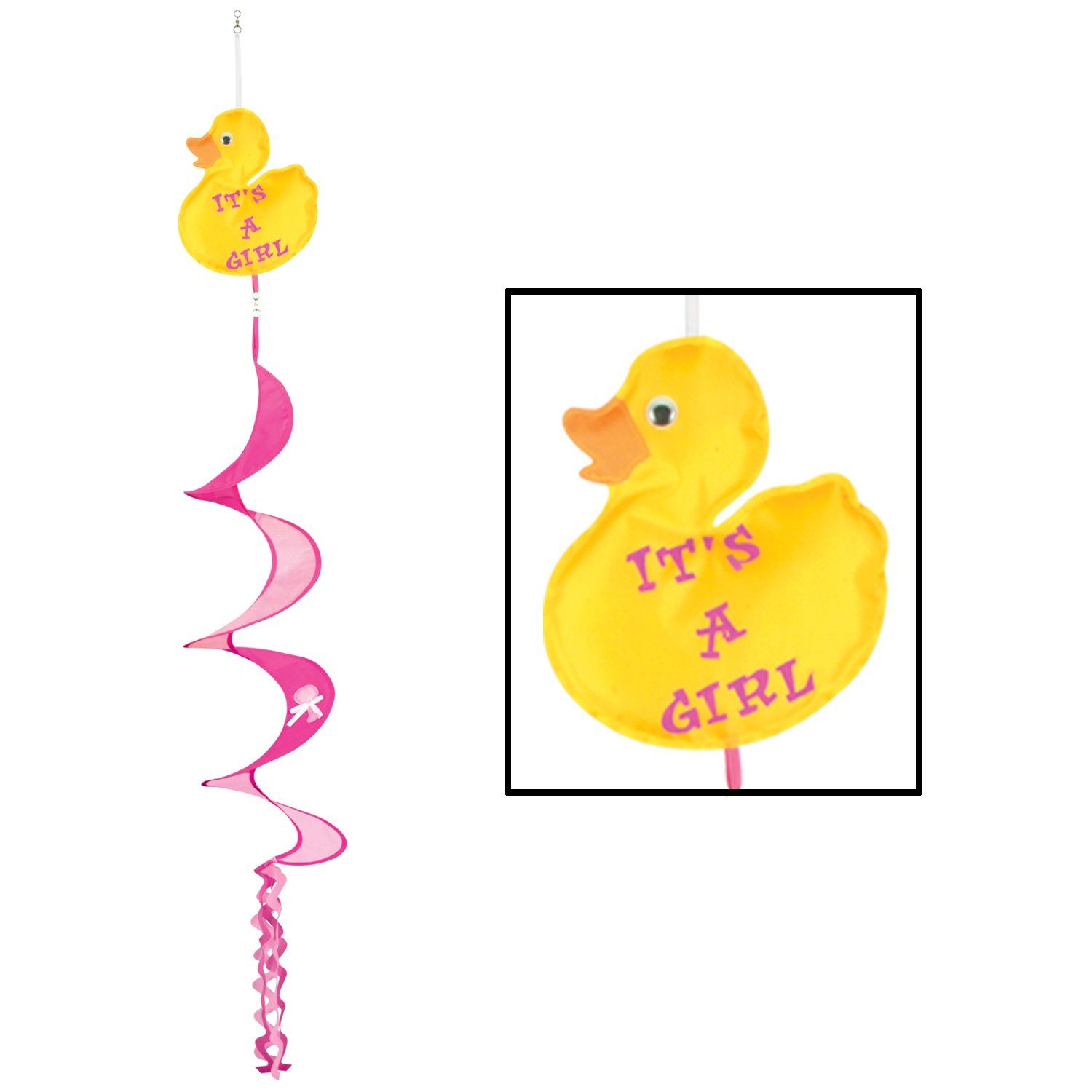 Just Duckie Its A Girl Wind Spinner