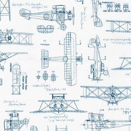 Planes Vintage Blueprints In Blue By Savannah Lockie 1 2