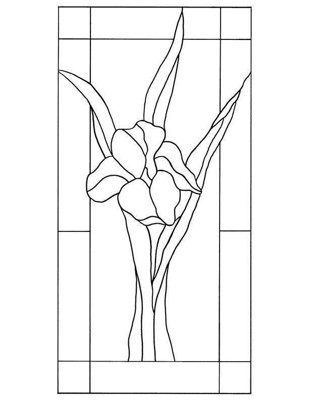 Iris Stained Glass Pattern Pattern Collections Stained Glass Studio Faux Stained Glass Stained Glass Flowers