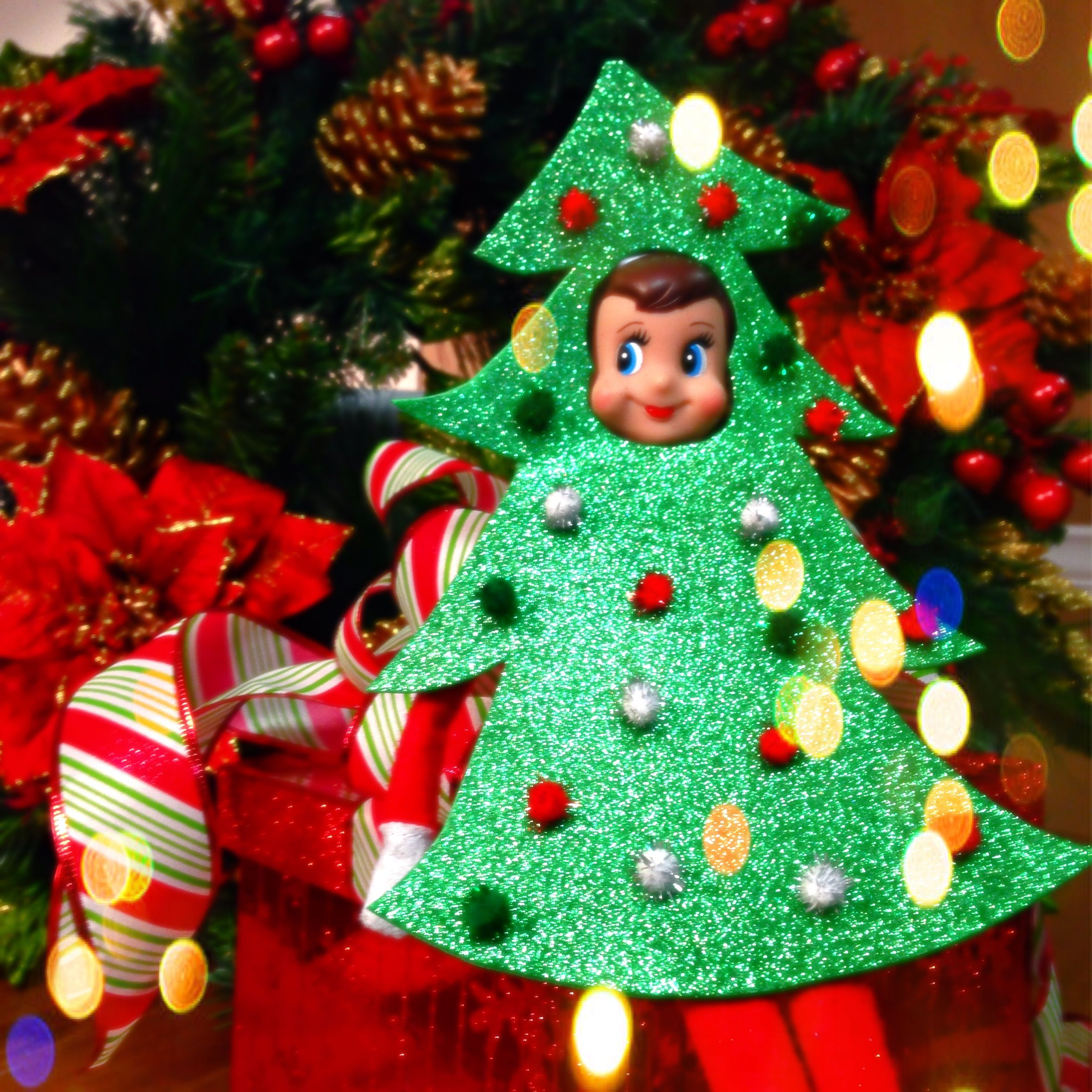 Pre Dressed Christmas Trees: Elf On The Shelf - Christmas Tree In 2019