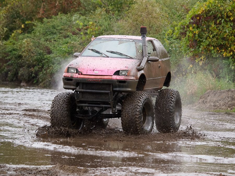 Yup, My lifted Geo Metro. Can you say redneck?? Country