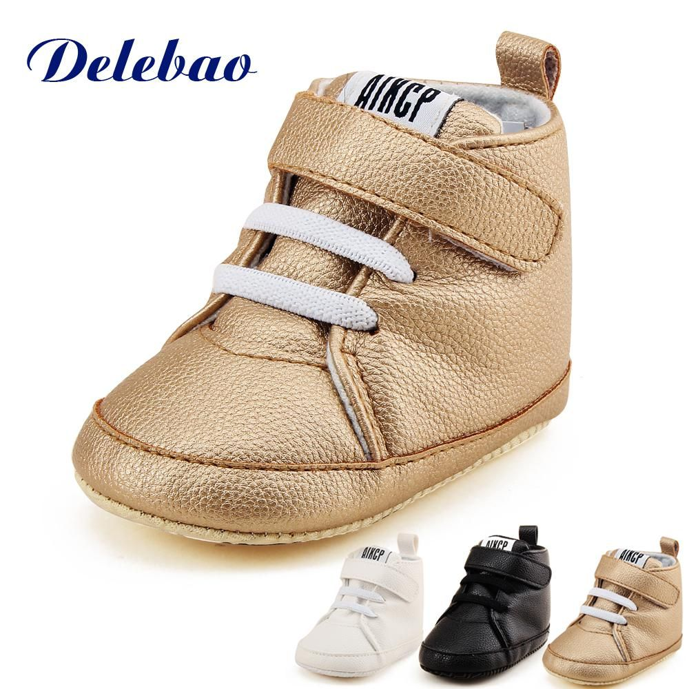 41f262586374d Delebao High State Department With Magic Stickers Leather Baby Shoes ...
