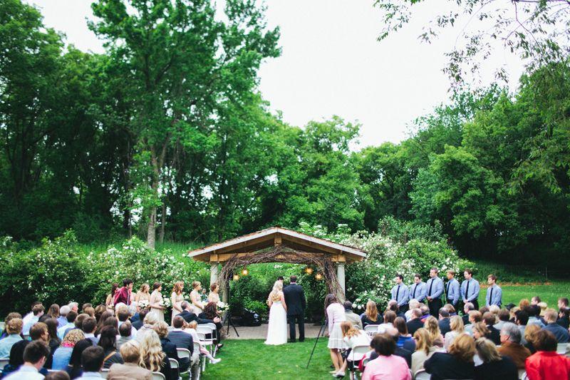 Camrose Hill Flower Farm Wedding Ceremony In Stillwater