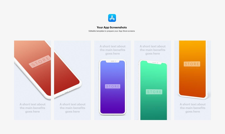 App Store Screenshot Mockup Templates Psd Sketch In 2020