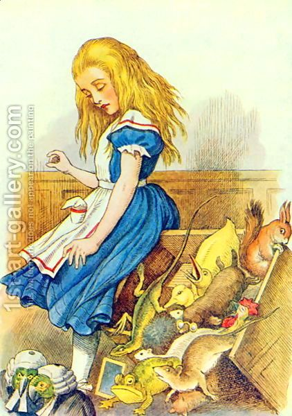 Alice Upsets The Jury Box Illustration From Alice In