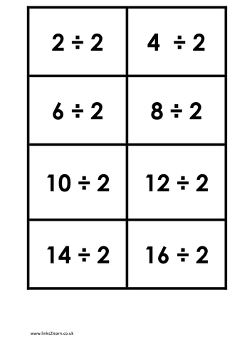 Times Table Matching Cards Set 3 Of 4