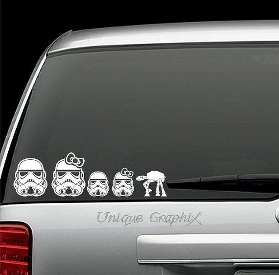 star wars inspired storm trooper family decal window sticker