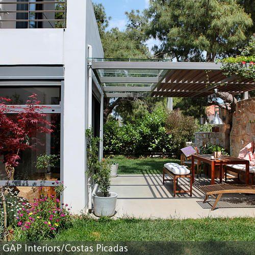 Couch Gartendach Hintergarten Moderne Pergola