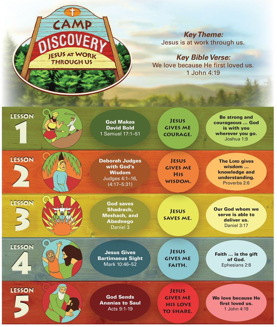 Camp discovery vbs daily bible lesson chart campdiscoveryvbs also rh pinterest