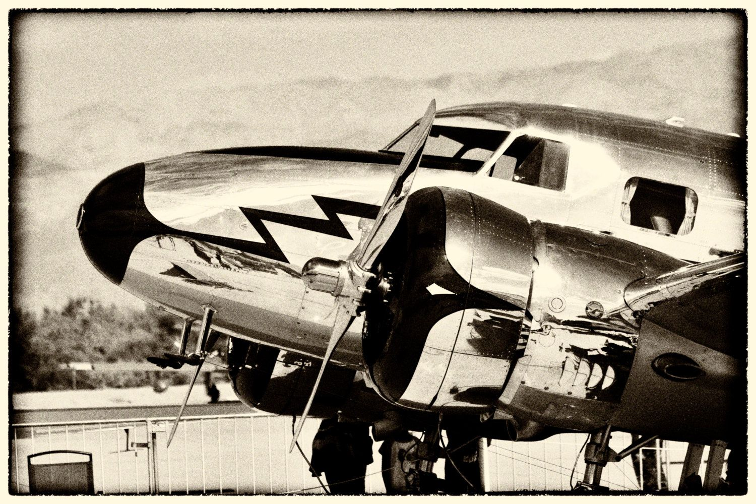 Old Metallic Airplane