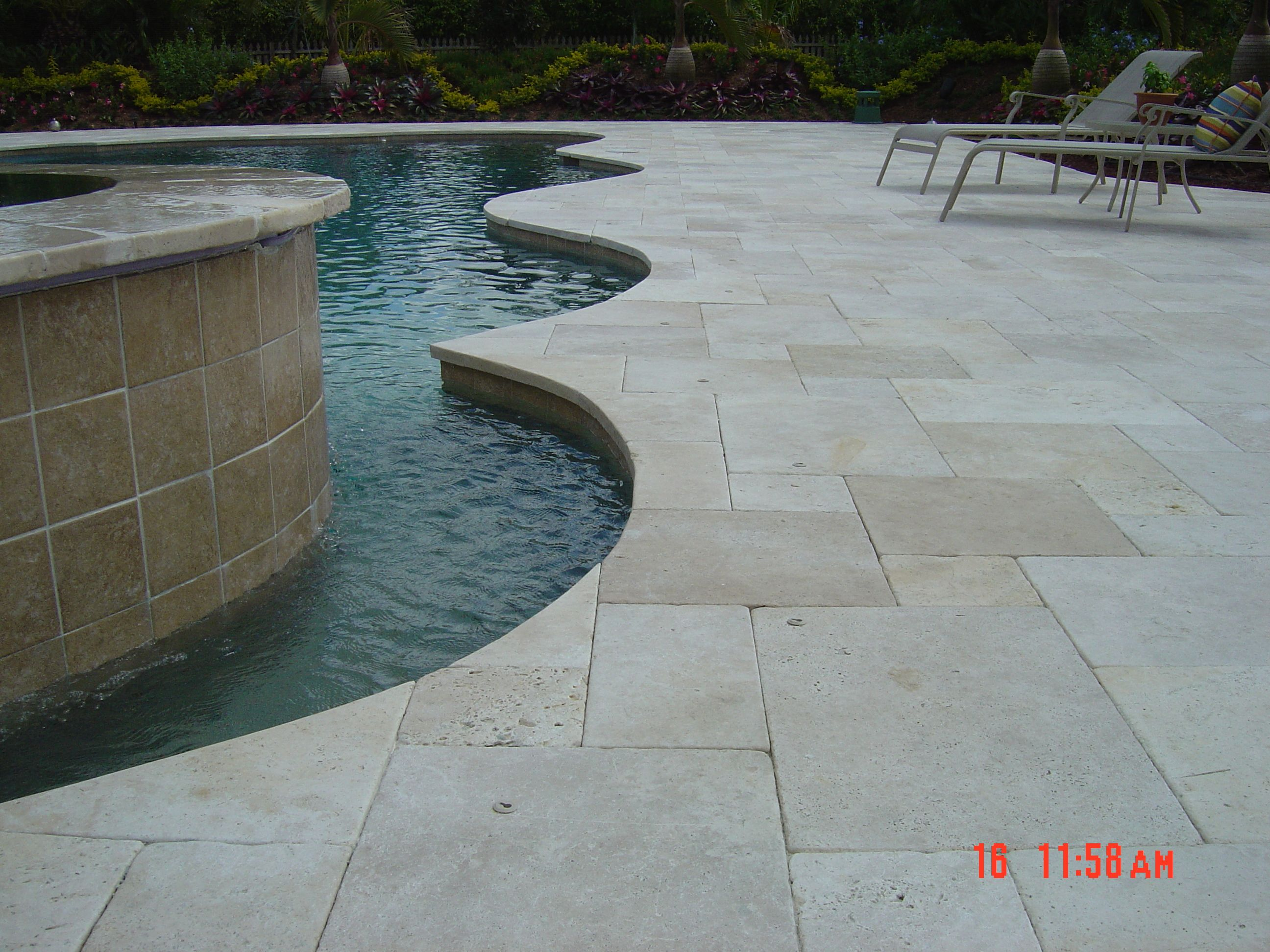 Natural Stone Pool Deck Natural Stone Pavers  Pool Deck Ideas Of White Ivory Paver