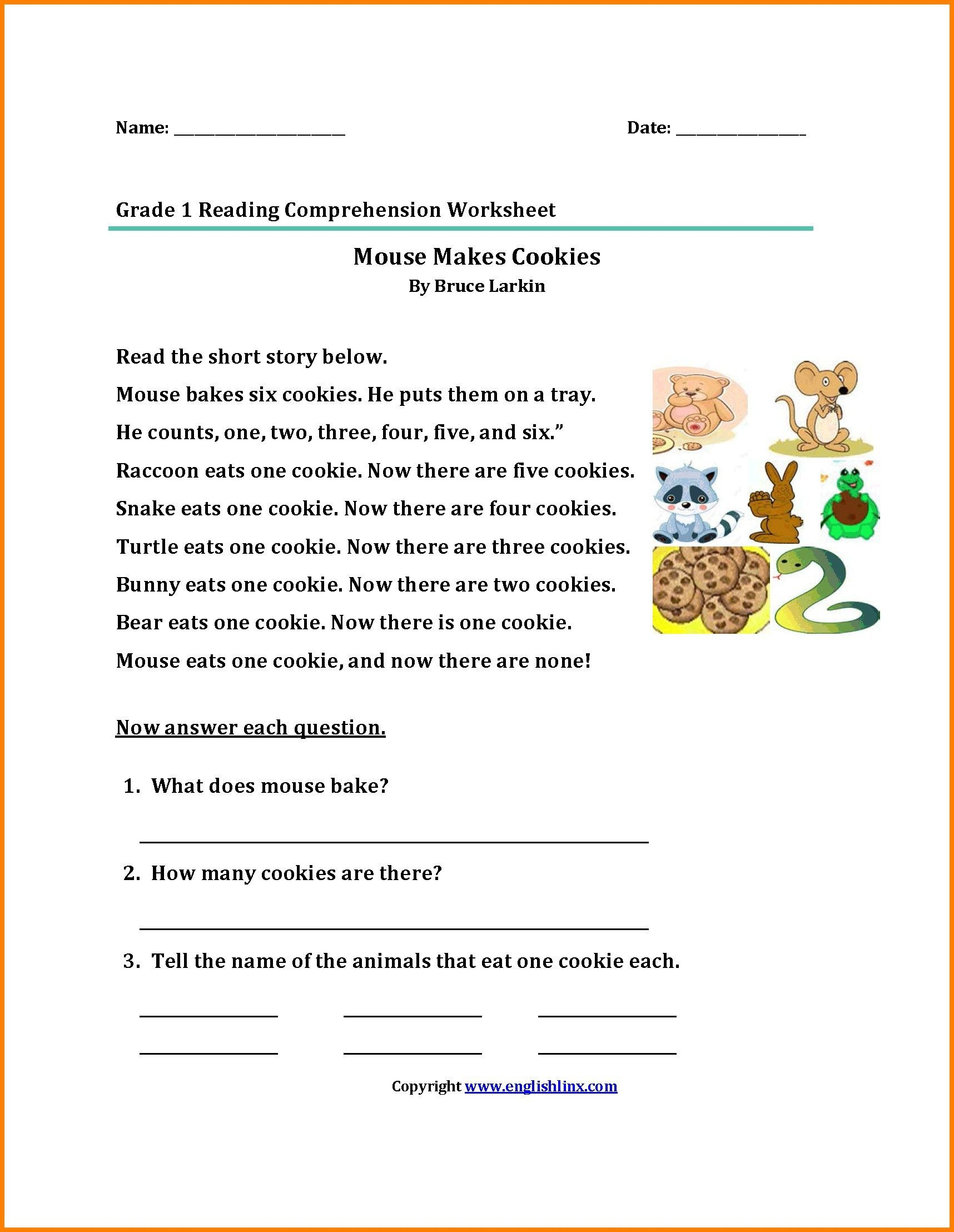small resolution of 4 2nd Grade Worksheet Printable   Reading comprehension worksheets