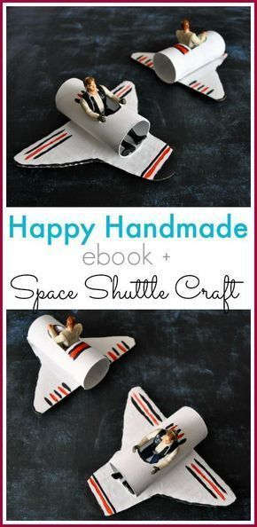 A Happy Homemade Space Shuttle Craft - Sarah Roberts - #craft #Happy #Homemade #Roberts #Sarah #Shuttle #Space #craftsforkids