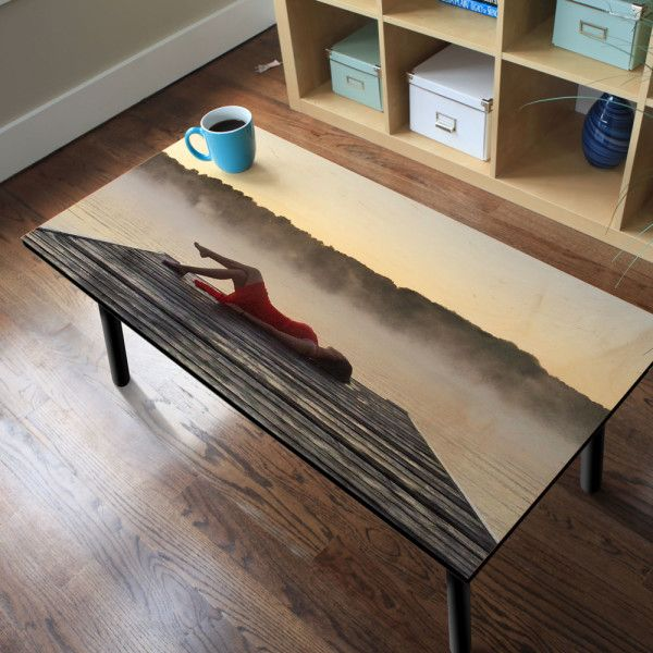 A Wood Coffee Tables printed on wood to give your image a warm, textured look.