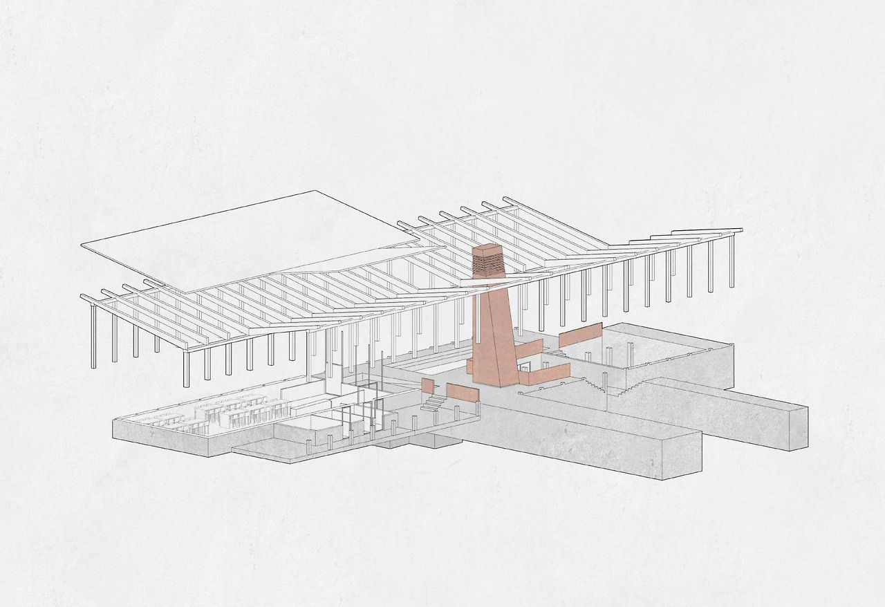 Spisehus på strande (Rabat, Morocco ) - Martin Alexander Meincke (  stud. arch.Royal Danish academy of fine Arts, School of Architecture)