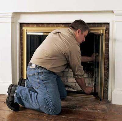 How To Install Glass Fireplace Doors Glass Fireplace Doors