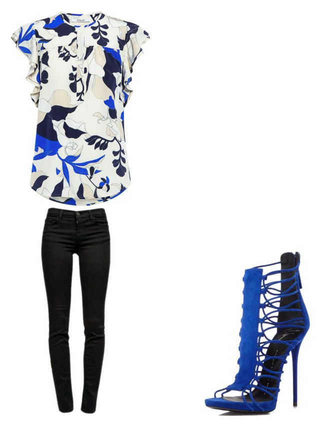 """💙"" by melodyleighmitchell on Polyvore featuring 10 Crosby Derek Lam, J Brand and Giuseppe Zanotti"