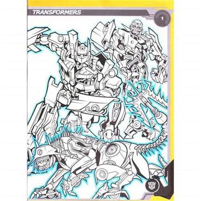 Transformers Coloring Book Secret Garden Style For Relieve Stress Kill Time Graffiti Painting Drawing