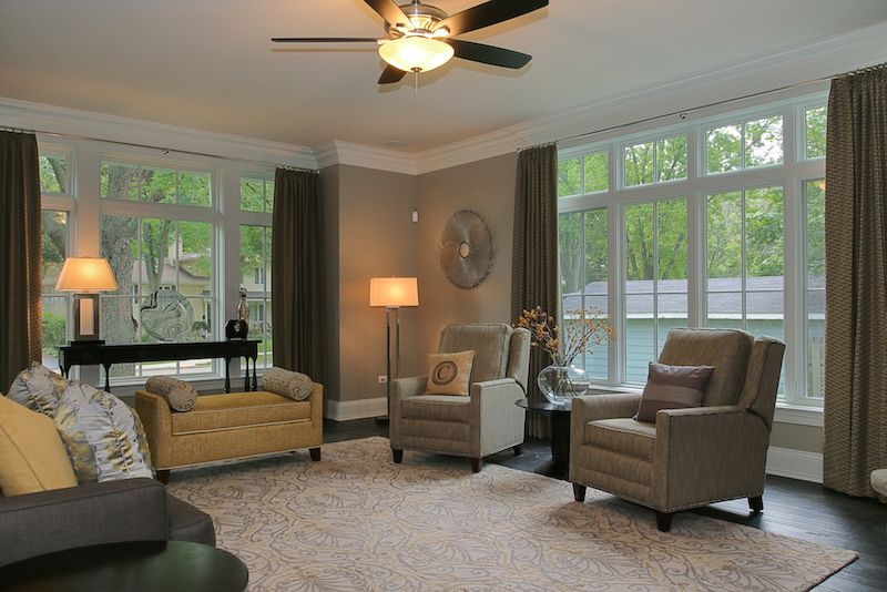 Hellyer Custom Builders new construction home in Naperville - Living Room
