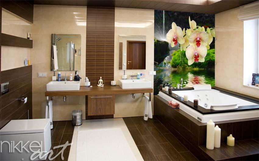 Badkamer Decoratie Tips : Nikkel art foto op glas in badkamer interior design