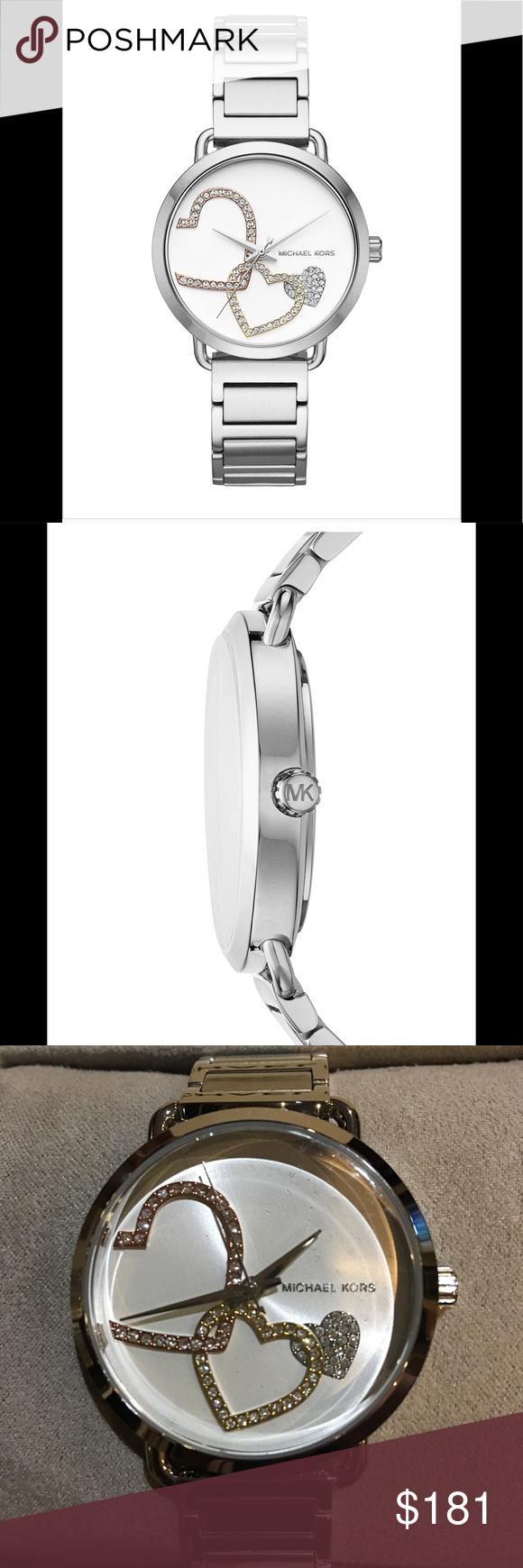 751cc92447ce Michael Kors MK3823 Portia Silver Tone Watch Michael Kors MK3824 Portia  Silver Tone Stainless Steel Watch