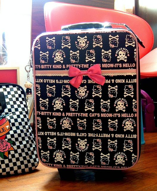 Hello Kitty suitcase for when I ship her to Aunt Lorrie