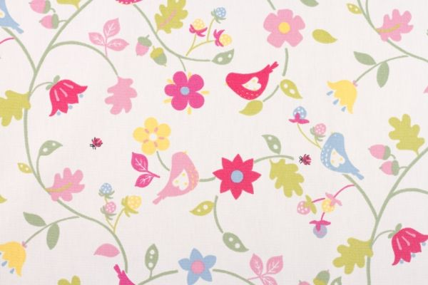 Bramble summer - love the colours of this, and how you see something new every time you look - birds, flowers, leaves, acorns, strawberries and little ladybirds!  100% cotton for £8.50 per metre :)