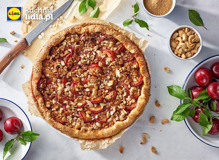 Ciasto Sliwkowe Z Orzechami Z Nerkowca Przepis Recipe Desserts Food Vegetable Pizza