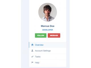 Bootstrap user profile