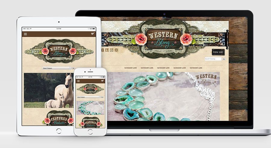 Western Bling Exclusive Website Template by Avalon Rose Design ...