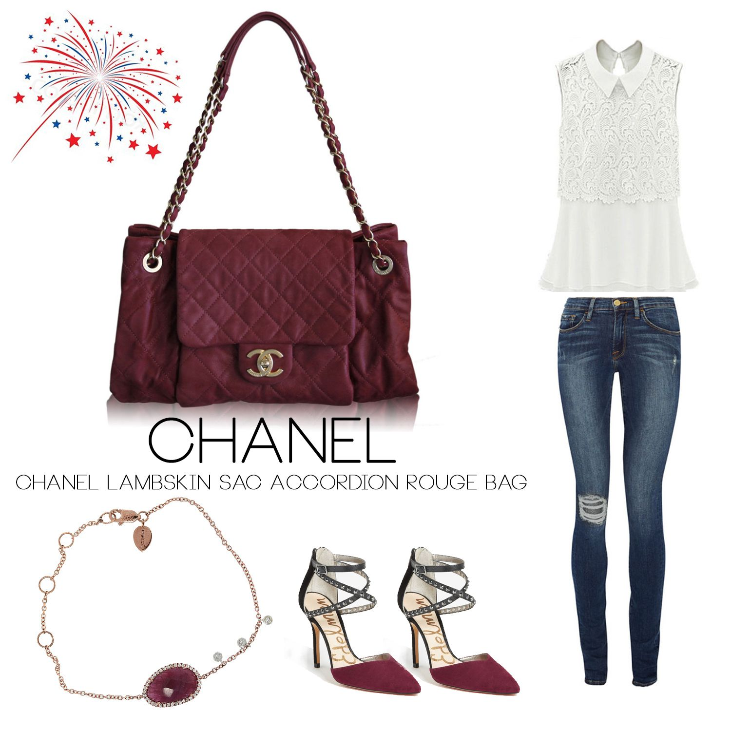 6eb302004b79 Chanel Sac Accordion Rouge Flap Bag Boca Raton | Outfit of The Day ...