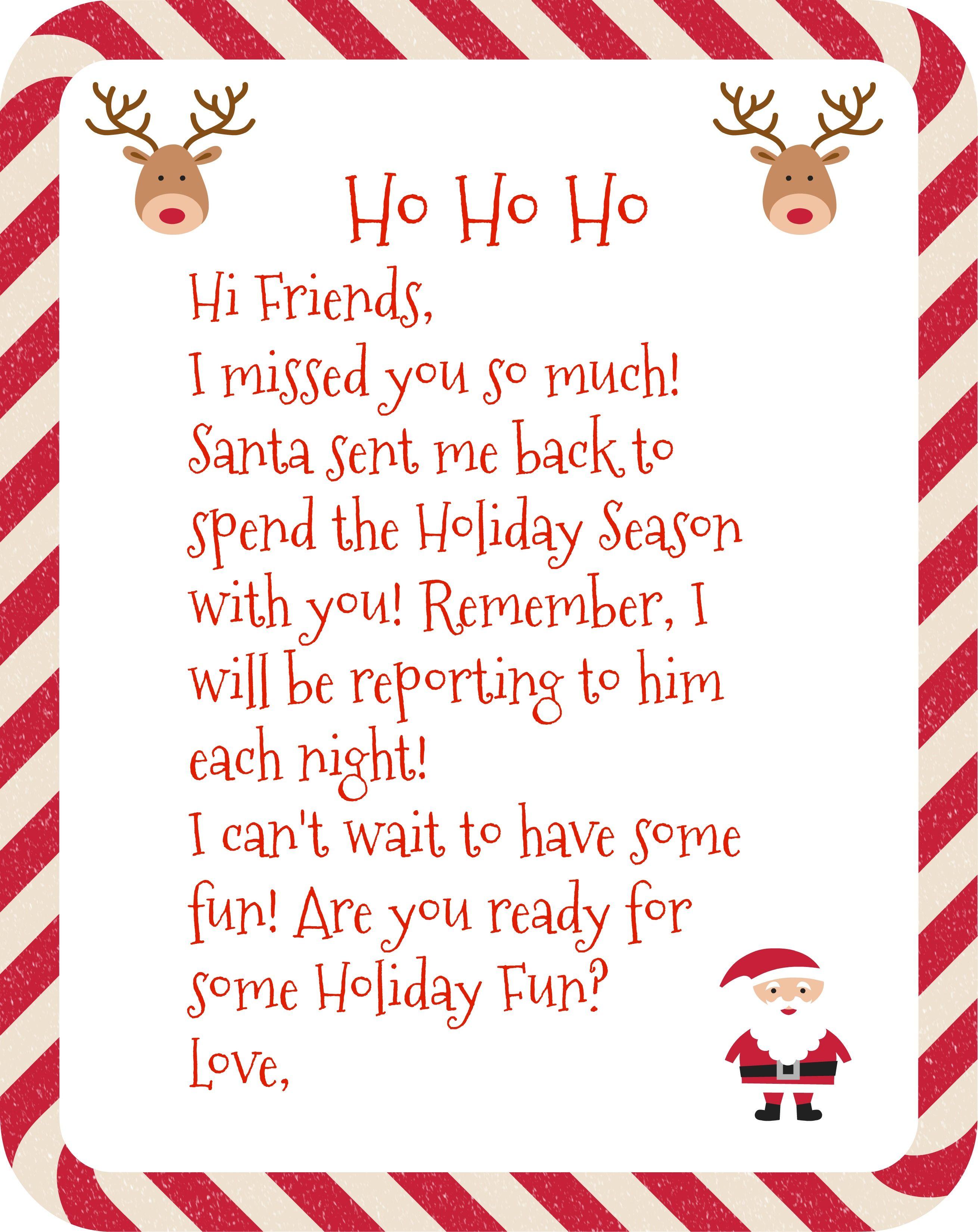 Free Printable Elf Arrival Letter Elf letters, Elf