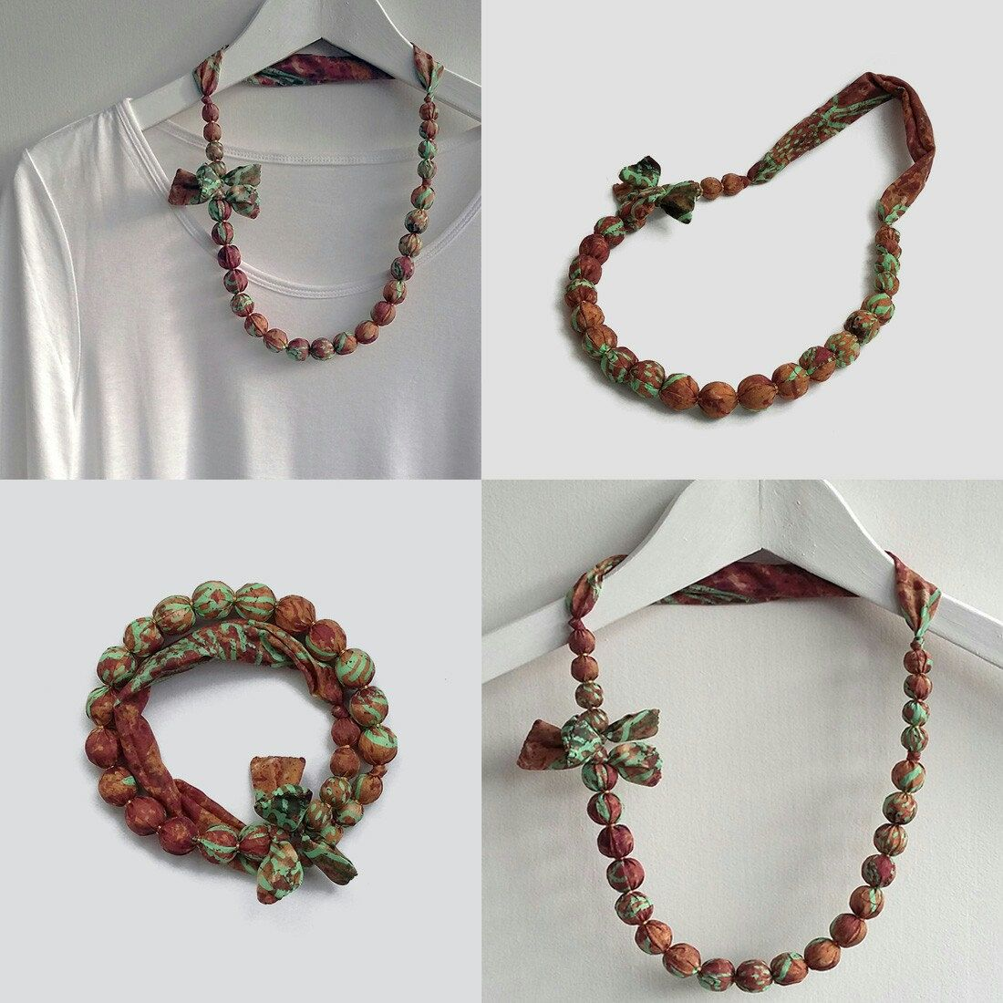 textile necklace chain sincera products collar