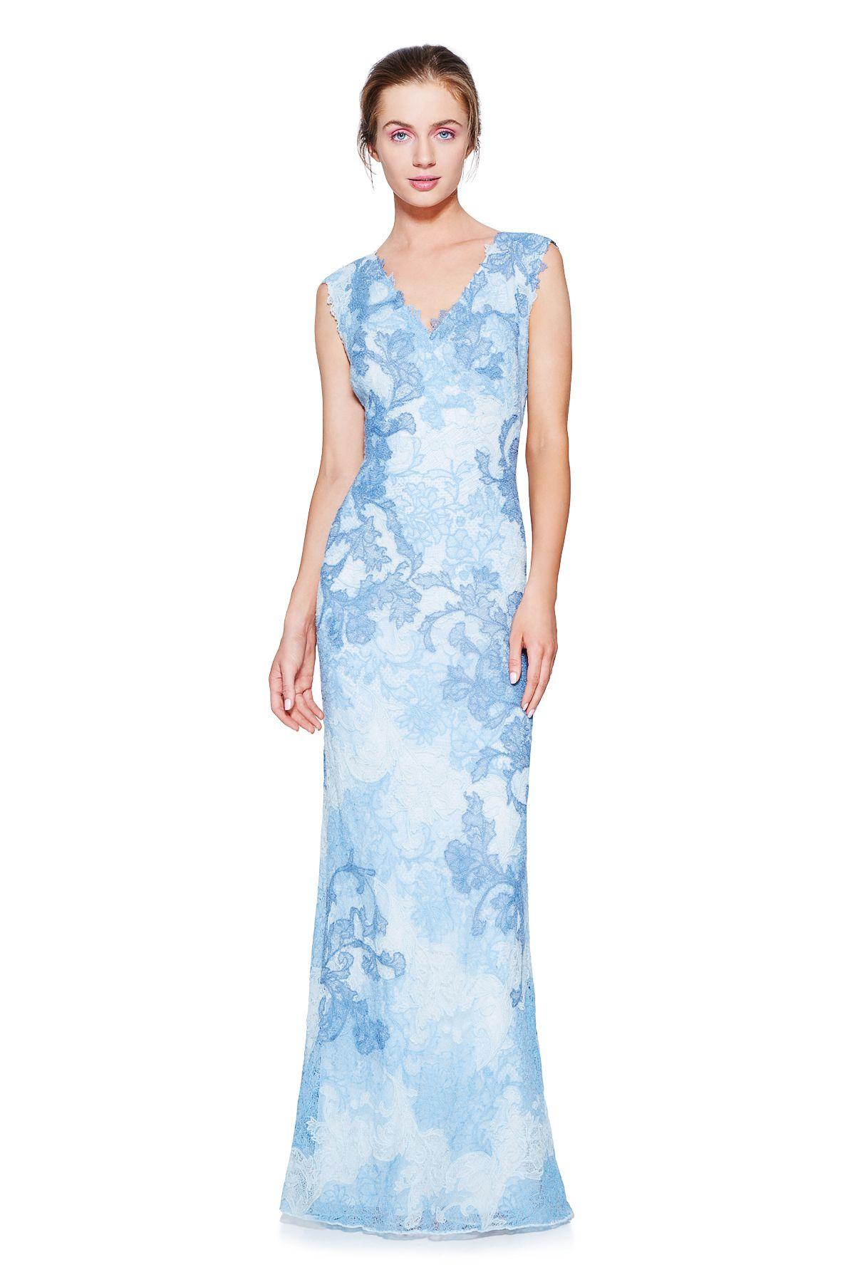 Emma Gown l Tadashi Shoji | Watercolor Motifs | Pinterest | Gowns ...