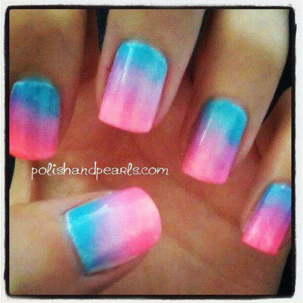 How To Sponge Gradient Nails | Beautiful dreamer | Pinterest ...