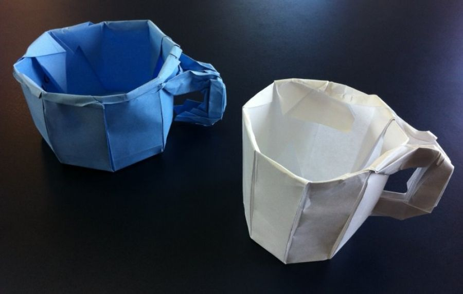 Origami Tea Cup With Handle Instructions