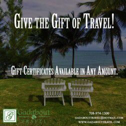 The holidays are right around the corner! If you can't seem to find the perfect gift, remember that Gadabout Travel has Gift Certificates in any amount! Stop in or call us for details.  #GadaboutTravel #Travel #Vacation #GiftOfTravel #chicagoland #PalosHills