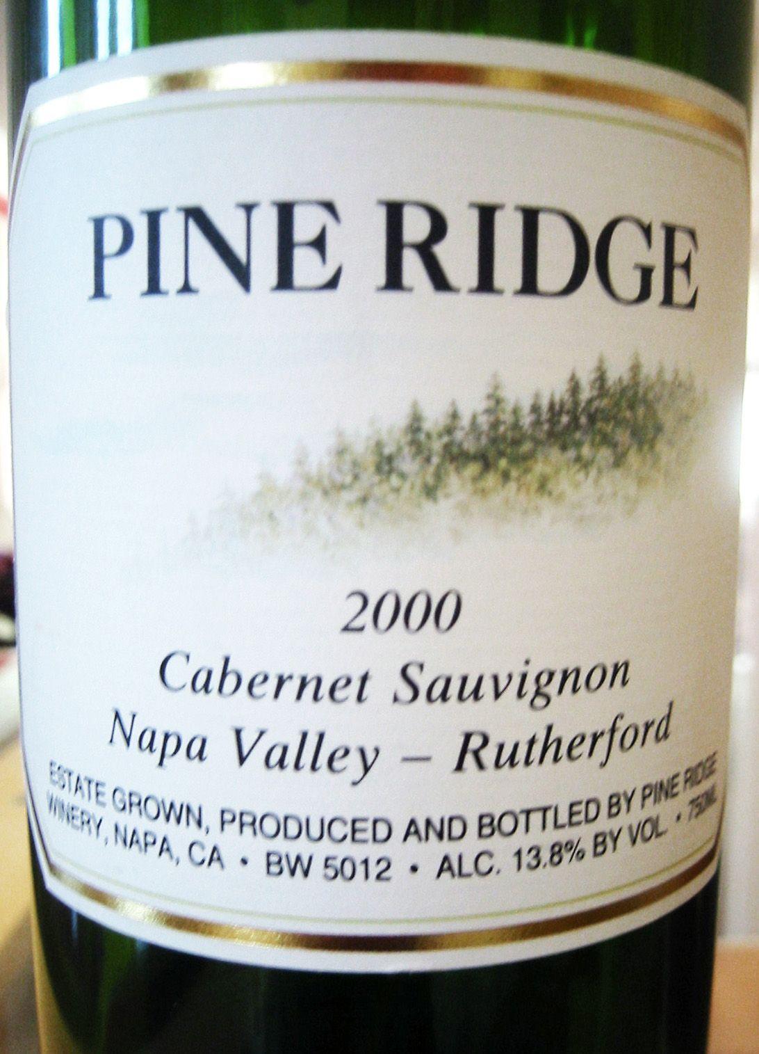 2000 Pine Ridge Napa Valley Rutherford Cabernet Sauvignon ...