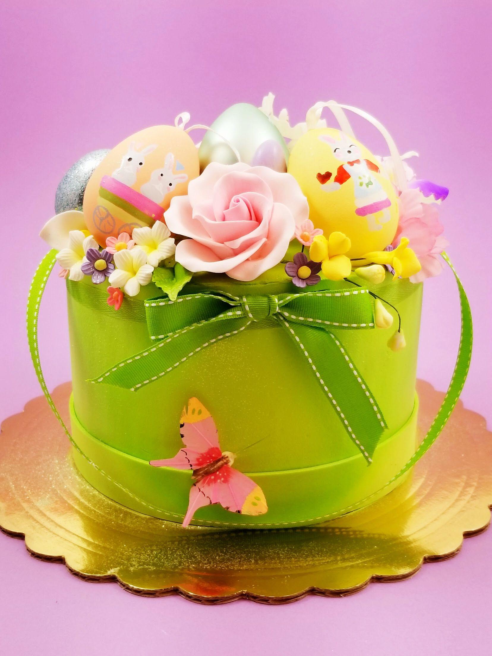 Floral easter basket cake easter basket cake easter