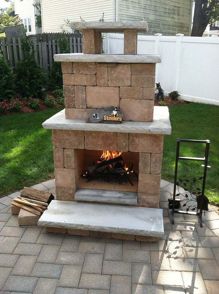 Hardscapes Outdoor Fireplace Patio Backyard Fireplace Patio Fireplace