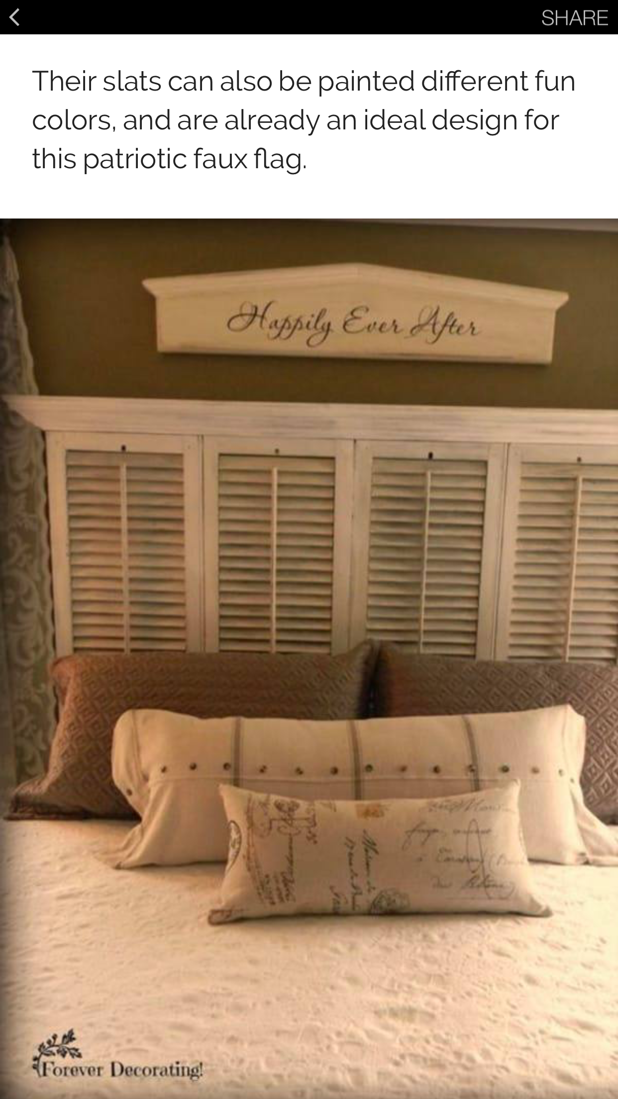 Shutter Headboard Bedroom Makeover Shutters Repurposed Home