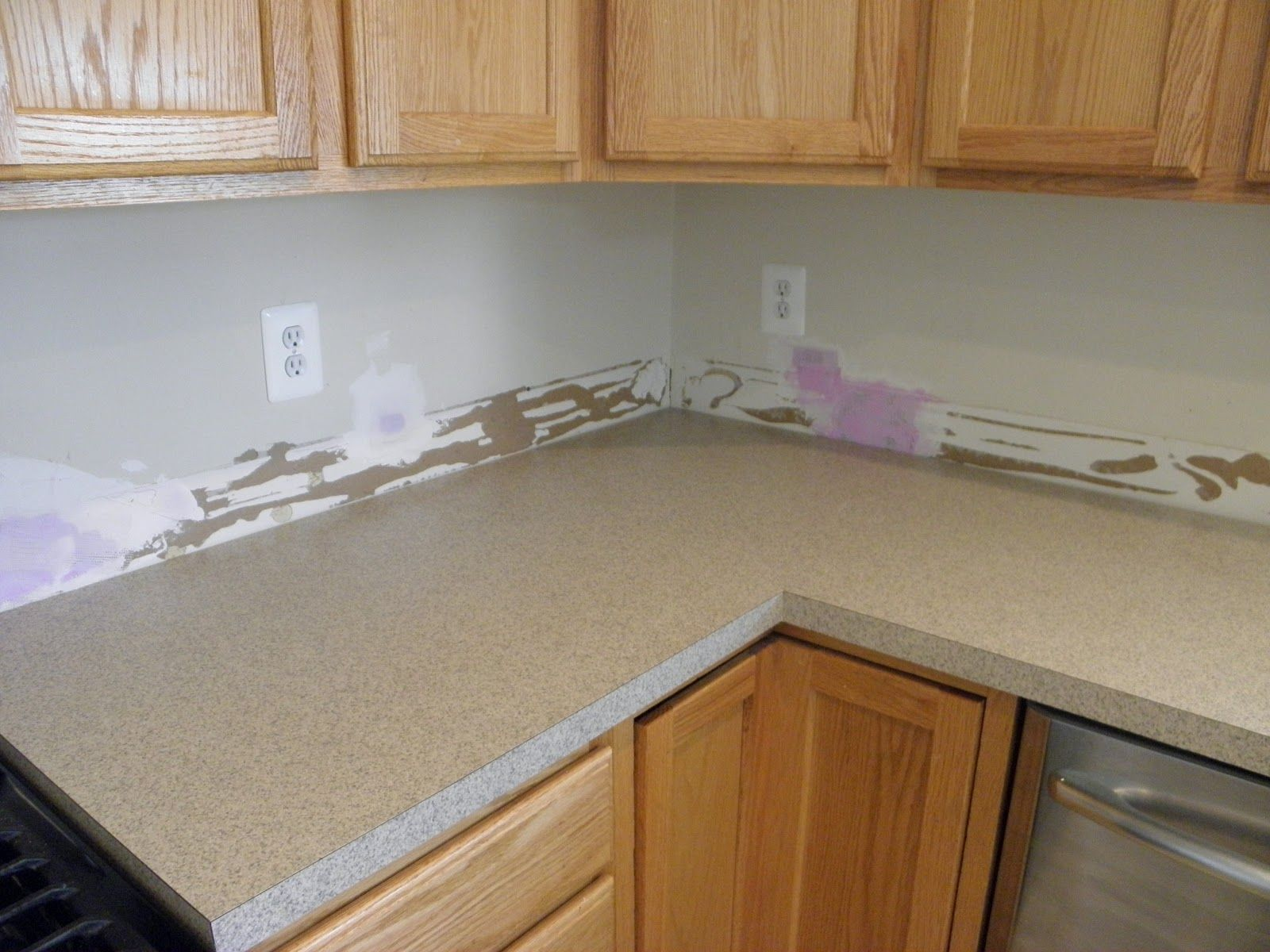 Laminate Kitchen Backsplash Formica Concrete Stone Kitchen Cosmetic Changes