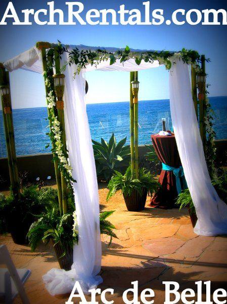 Bamboo Wedding Arch Canopy Rentals Wedding Ceremony Photos On
