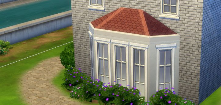 How To Create An Octagonal Roof In The Sims 4 Sims Online Sims 4 Sims Roof Trim