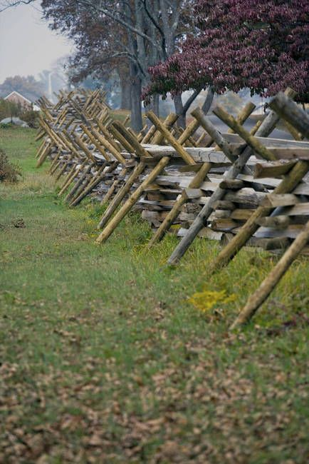 Snake Rail Fence At Gettysburg Fence Design Rail Fence Fence
