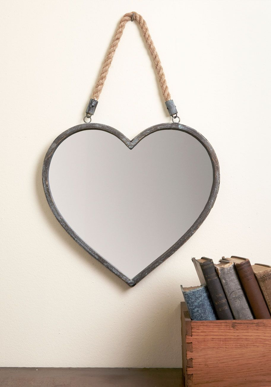 Revered Residence Wall Mirror With This Heart Shaped Mirror Ornamenting Your Wall Your Space Becomes A Shabby Chic Decor Living Room Mirror Wall Mirror Decor