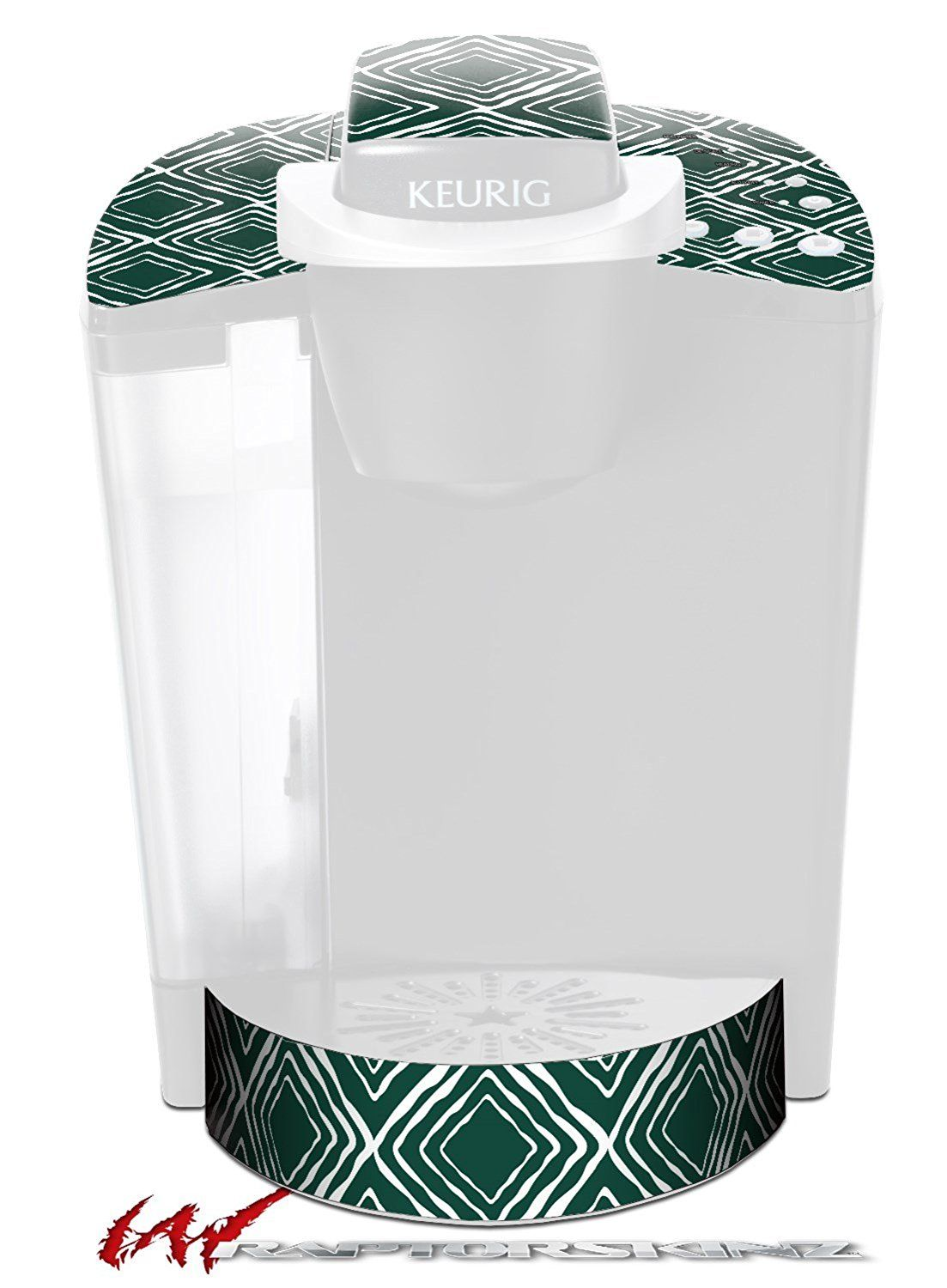 Wavey Hunter Green Decal Style Vinyl Skin Fits Keurig K40 Elite